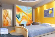 Szkło do szaf przesuwnych / Szyby te są doskonałym elementem dekoracyjnym wnętrz. Pięknie wyglądają jako panele scienne bądź szyby do drzwi przesuwnych