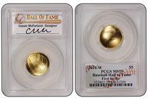 2014 Baseball Hall Of Fame Gold 5 Dollar / 2014 Baseball Hall Of Fame Gold 5 Dollar