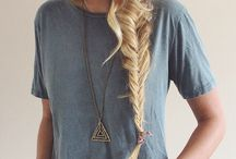 Hairstyles / Hairstyles: Fantastic braids, ponytails and other hairstyles that you may like/ love.
