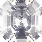 Radiant White Sapphires