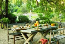 Outdoor decks, patios and dining. / by Doug Bradley