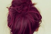 Marsala hair, color, dress....everything!!! <3