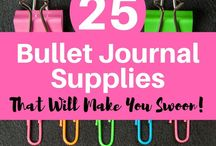 Bullet Journal Supplies / Bullet Journal, supplies, bujo, ideas, tips, how to, notebooks, pens, washi tapes, stickers, markers