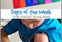 Kids Activities/Busy Bags / I have two active toddlers and a baby on the way. I need things to keep them busy.