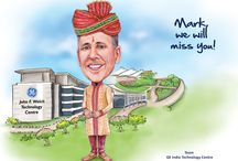 Corporate Caricatures / We do gift caricatures of boss for farewell parties.