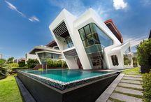 Contemporary House building