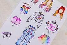 desenhos roupas