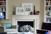 Mantel and gallery wall