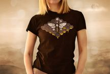Women T-Shirts / Screen printed original designs for men t-shirts by Akzynth