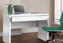 White Computer Desk Laptop Workstation Office Student Writing Table Gloss Modern
