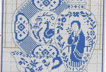 κεντήματα μπλε