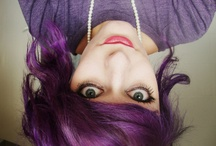 body and hair / hair- mostly purple, tattoos, make-up, fashion