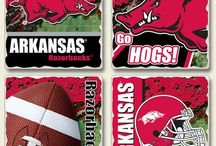 Woo Pig Sooie / Arkansas Razorbacks   InteriorDecorating.com carries all sorts of licensed college gear.  Since we are located here in Arkansas, here are some of our favorite Razorback items.  College bedding, grilling, car mats, fabrics and more.