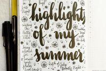 Handlettering summer