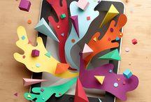 Diseño con papel / by Juan Sebastian Gonzalez
