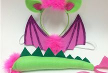 pink dragon costume