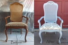 Armchairs reupholstery