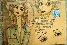 Art envelopes / Beautiful artful envelopes