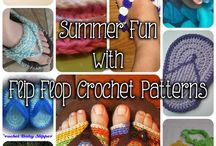 Crocheting-Flipflops