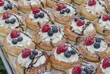 Puff pastery berries and cream