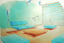 Watercolor Interior / Watercolor Interior