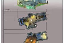 Plans batiments médiévaux