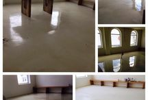 Concrete overlay / Decorative concrete overlay with integral colour. Elite-crete system. Epoxy and polyurethane coating