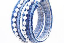 bracelets tissu, jean ou cuir