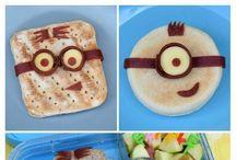 Food - Minions / Minion Themed food snacks, kids snacks, cupcakes, kids fun food, minion party food ideas, minion treats, minion bento ideas