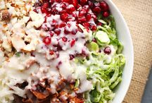 Chopped Brussel sprout salad