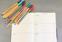 p l a n n i n g / Planners + Journaling