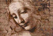 Da Vinci cross stitch / by Yiota's cross stitch