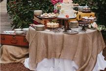Wedding dessert tables