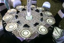 Showroom Tables / Shown are some of our table set up options for weddings and events from our showroom.