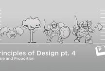 Principles of Design - Scale & Proportion / #priciples_of_design #scale_and_proportion