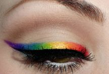 Rainbow Makeup and Nails / Rainbow makeup and nail art perfect for pride or a colourful day