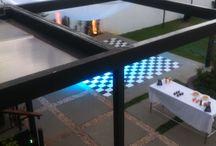 Festa pré adolescente / Festa na área externa com DJ e luzes