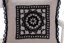 almohadones a crochet