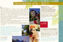 NewsLetter 2015 #hotelles2rives / Voici la newsletter 2015 sur l'hôtel Les 2 Rives. organisez votre séjour en #lozère