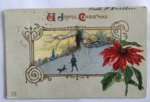 Christmas cards-Norway Vintage Old-Norge-Julekort Norge / https://crydollf.blogspot.no/
