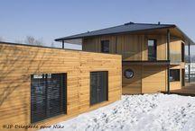 Maison contemporaine polygonale ossature bois