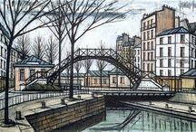 Bernard Buffet's City Sketches