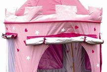 Girls Pop Up Tent Castle Playhouse Wendy House Pink Indoor-Outdoor PrincessPlay