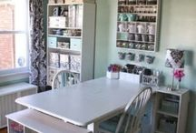 Studios / Craft Rooms, Art Journaling spaces, Home Artist Studios, scrapbooking rooms....whatever gives me ideas and/or that I just love.