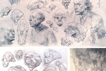 Sketching, Studies and Process