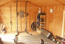 Shed Conversion Ideas - Gym / As your family grows, sometimes it can get cramped inside. What was once a spacious basement with a treadmill, gym set and weight set is now a play room for your kids. However, don't count out the potential of a shed. A shed can offer the perfect amount of space for a gym right in your backyard. Here are a few images of a shed gym as found on the internet.