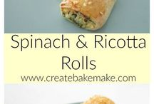 spinach & ricotta rolls easy