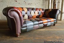 Leather Patchwork Chesterfield Sofas & Chairs