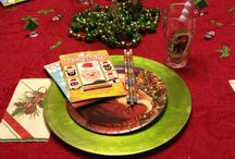 Holiday Table Setting / Table Set for Christmas Morning Breakfast