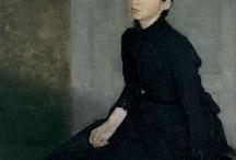arte - Vihelm Hammershoi (1864-1916) / arte - pittore danese